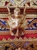 Wood carving garuda Royalty Free Stock Images