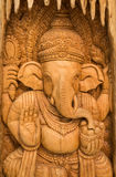 Wood carving god Ganesha. Royalty Free Stock Photos