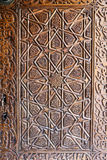 Wood Carving in Green Tomb, Bursa city Stock Photos