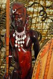 African Warrior (wood carving) Stock Photography