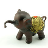 Wood carving. A little elephant Wood carving Stock Images