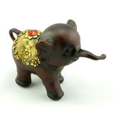 Wood carving. A little elephant Wood carving Royalty Free Stock Images