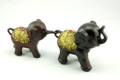 Wood carving. A little elephant Wood carving Royalty Free Stock Photography