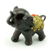 Wood carving. A little elephant wood carving Royalty Free Stock Image