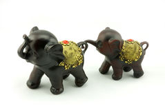 Wood carving. A little elephant wood carving Stock Photo
