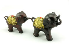 Wood carving. A little elephant wood carving Royalty Free Stock Photo