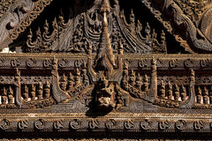 Wood carving Myanmar Stock Images