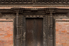 Wood carving in Nepal Royalty Free Stock Photos