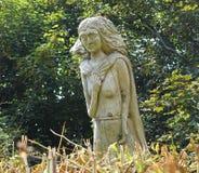 Wood carving overlooking Saint Marys Bay Torbay Devon Royalty Free Stock Photo