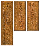 Wood Carving Pattern Design Elements Royalty Free Stock Images