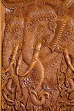 Wood carving pattern on the door of Thai temple. Stock Images