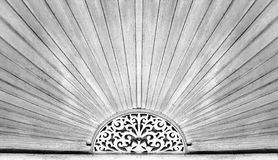 Wood carving pattern over the door of ancient Chinese style hous Royalty Free Stock Photos