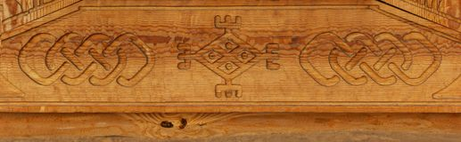 Wood carving pattern texture Stock Photo