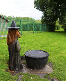 A wood carving of a Pendle Witch Royalty Free Stock Photos