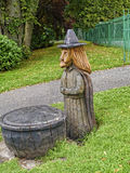 A wood carving of a Pendle Witch Royalty Free Stock Photography