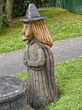 A wood carving of a Pendle Witch Royalty Free Stock Image
