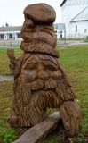 Wood Carving in Suzdal Town stock image
