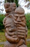 Wood Carving in Suzdal Town stock images