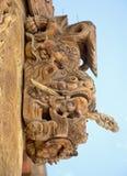 Wood Carving. Of Temple in Gannan, Gansu royalty free stock photo