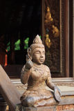 Wood carving in the temple Stock Photography