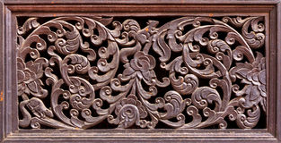 Wood carving texture or Wood carving background. Stock Images