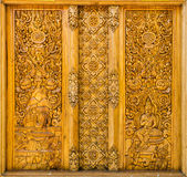 Wood carving thailand. Wood-carving in temple thailand Royalty Free Stock Image