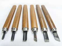 WOOD CARVING TOOLS Stock Photo