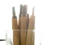 Wood carving tools Royalty Free Stock Image