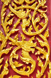 Wood carving of Wat Se Nas Stock Images