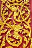Wood carving of Wat Se Nas. Naga and dragon wood carving at Wat Se Nas, Phitsanulok, Thailand Stock Images