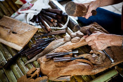 The wood carving Stock Photography