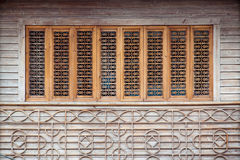 Wood carving window Stock Image