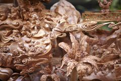 Wood carvings Stock Images