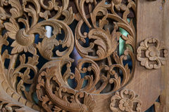 Wood carvings of Thailand. Flower Wood carvings of Thailand Royalty Free Stock Photo
