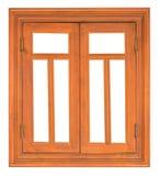 Wood casement Window Stock Photo