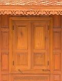 Wood Casement Window Royalty Free Stock Photos
