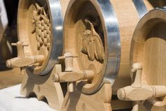Wood cask royalty free stock image