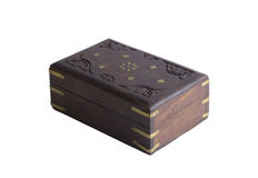 Wood casket Stock Photography
