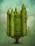 Wood Castle vector illustration