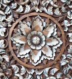 Wood caving pattern Royalty Free Stock Photo
