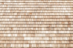 Wood cedar shingles for roof or wall Royalty Free Stock Photography