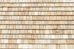 Wood cedar shingles for roof or wall Stock Photos
