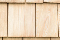Wood cedar shingles for roof or wall Stock Photography