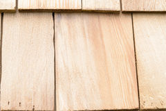 Wood cedar shingles for roof or wall Royalty Free Stock Images