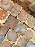 Wood cederträjournaler Arkivbild