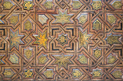 Wood ceiling in Alhambra, Granada Royalty Free Stock Image
