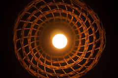 Wood Ceiling lamp Royalty Free Stock Image