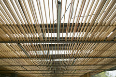 Wood ceiling lath Royalty Free Stock Images