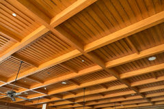 Wood ceiling Royalty Free Stock Images