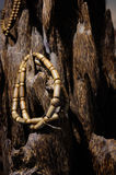 Wood chain bracelets Royalty Free Stock Images